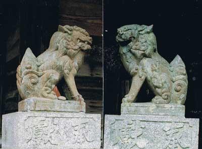 狛犬 公智神社境内 ―21