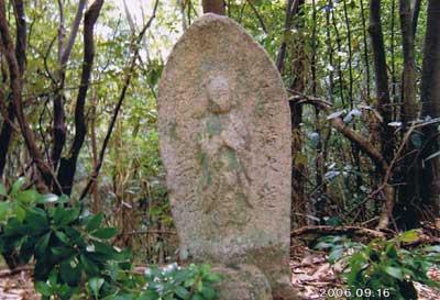 道標 (地蔵立像)名来字下り松(平尻道沿い)-4