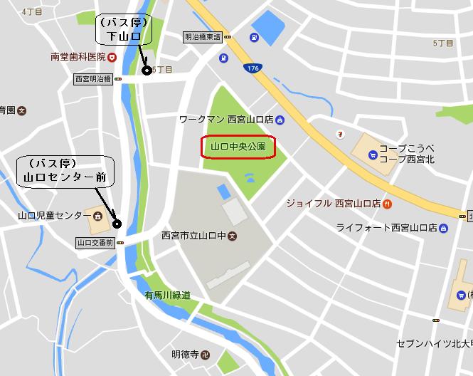 地図:山口中央公園