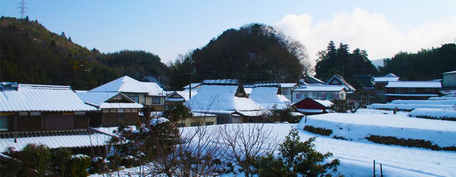 山口町船坂の雪景色