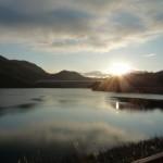 山口町自治会連合会賞 謹賀新年 金仙寺湖の初日の出  藤江泰