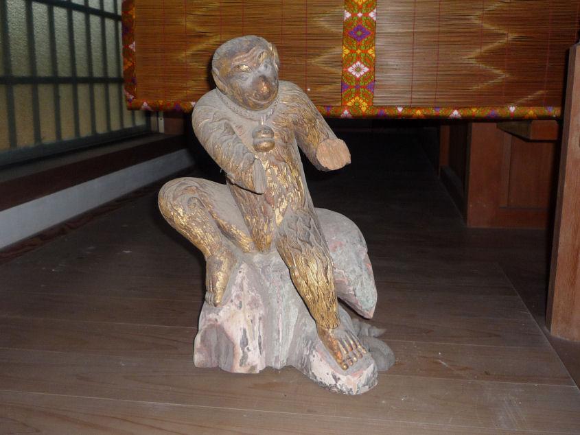木像神猿椅像