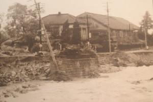 山口センター付近の橋脚(昭和38年)