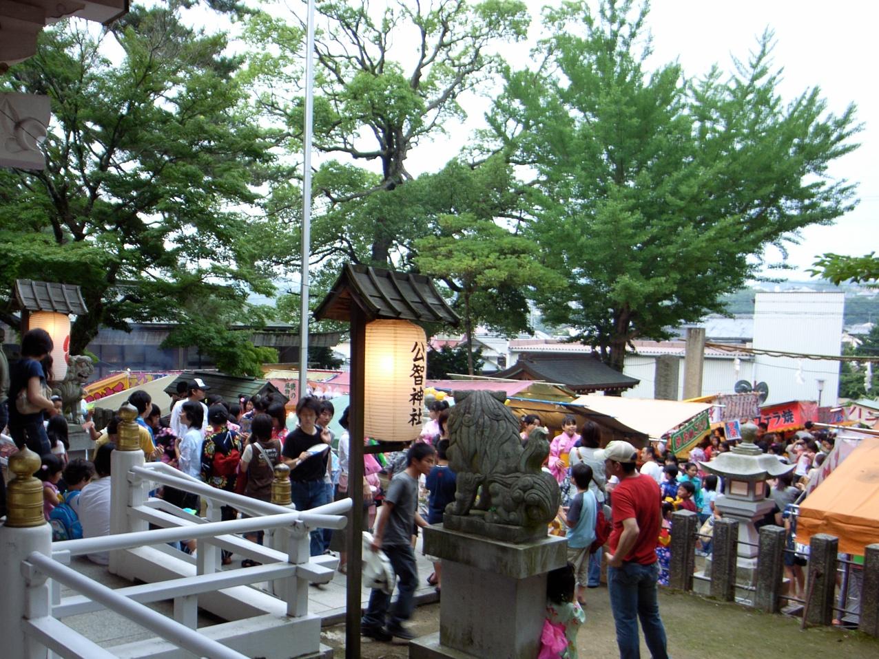 公智神社の夏祭