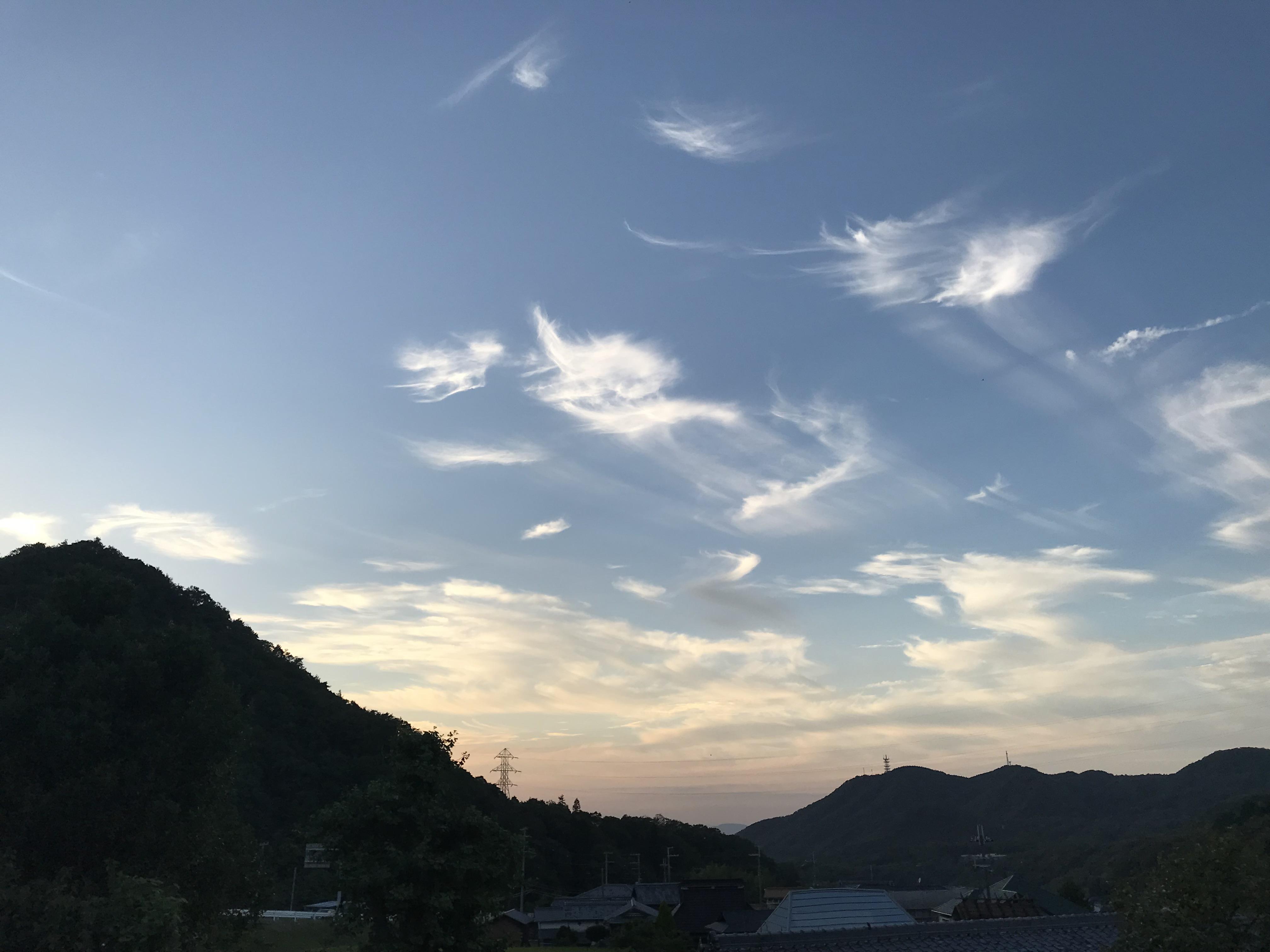船坂から金仙寺湖方面の夕景