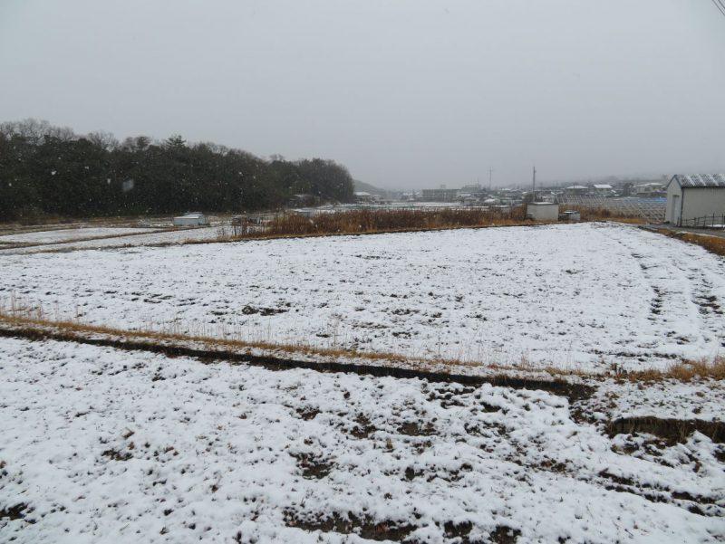 上山口はじめての積雪